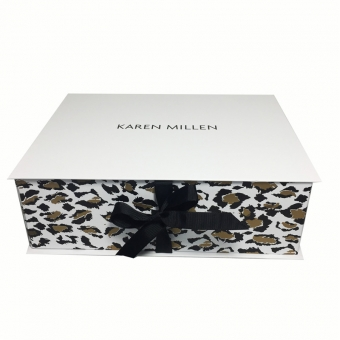 Luxury Flat Pack Box With Ribbon