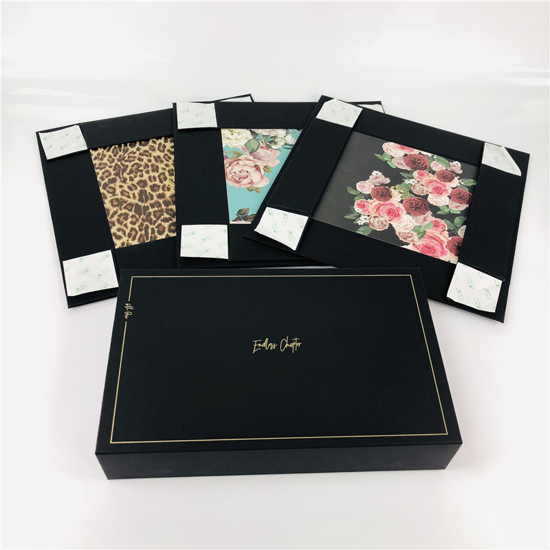 Luxury black foldable boxes