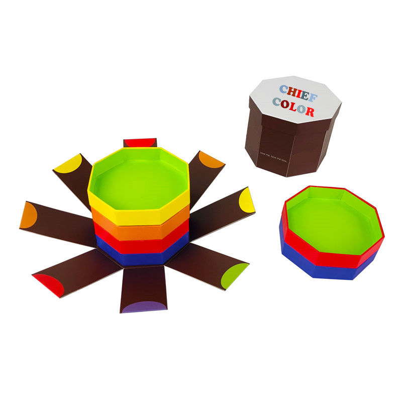 Octagonal Rigid Paper Boxes for Chocolate Packaging