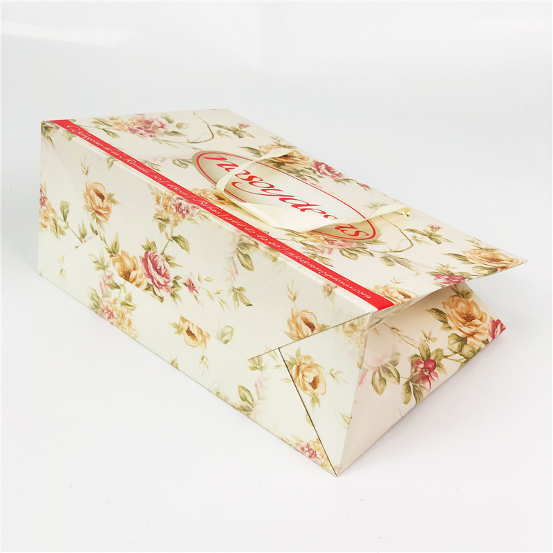 Flower Printed Paper Shopping Bags