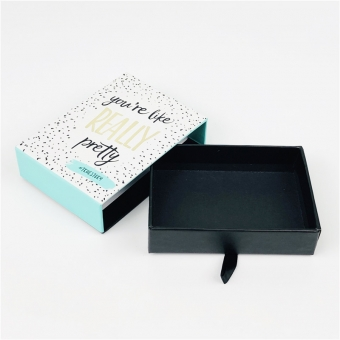 rigid box with ribbon