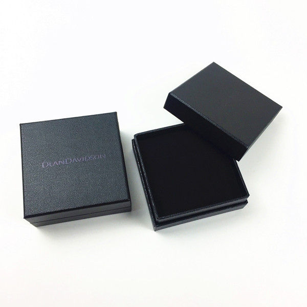 Black Cardboard Boxes with Foiled Logo