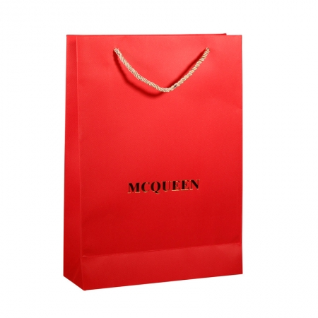 Red Matt laminated paper bags for apparel