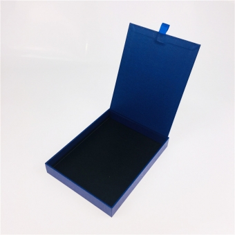 Fancy Blue Hinged Lid Gift Box