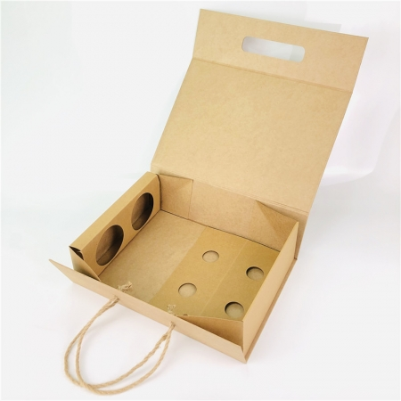 Foldable Gift Boxes for Wine Glasses