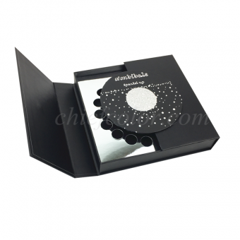 Black Paper Box With Hotfoil Stamping