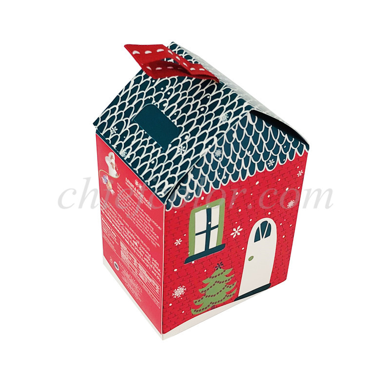 Custom Christmas Chocolate Box House Shaped Candy Gift Packaging