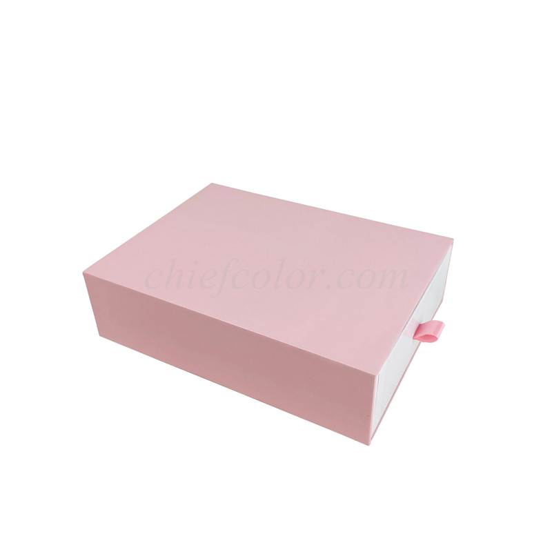 Printed Sliding Drawer Box With Glossy Lamination