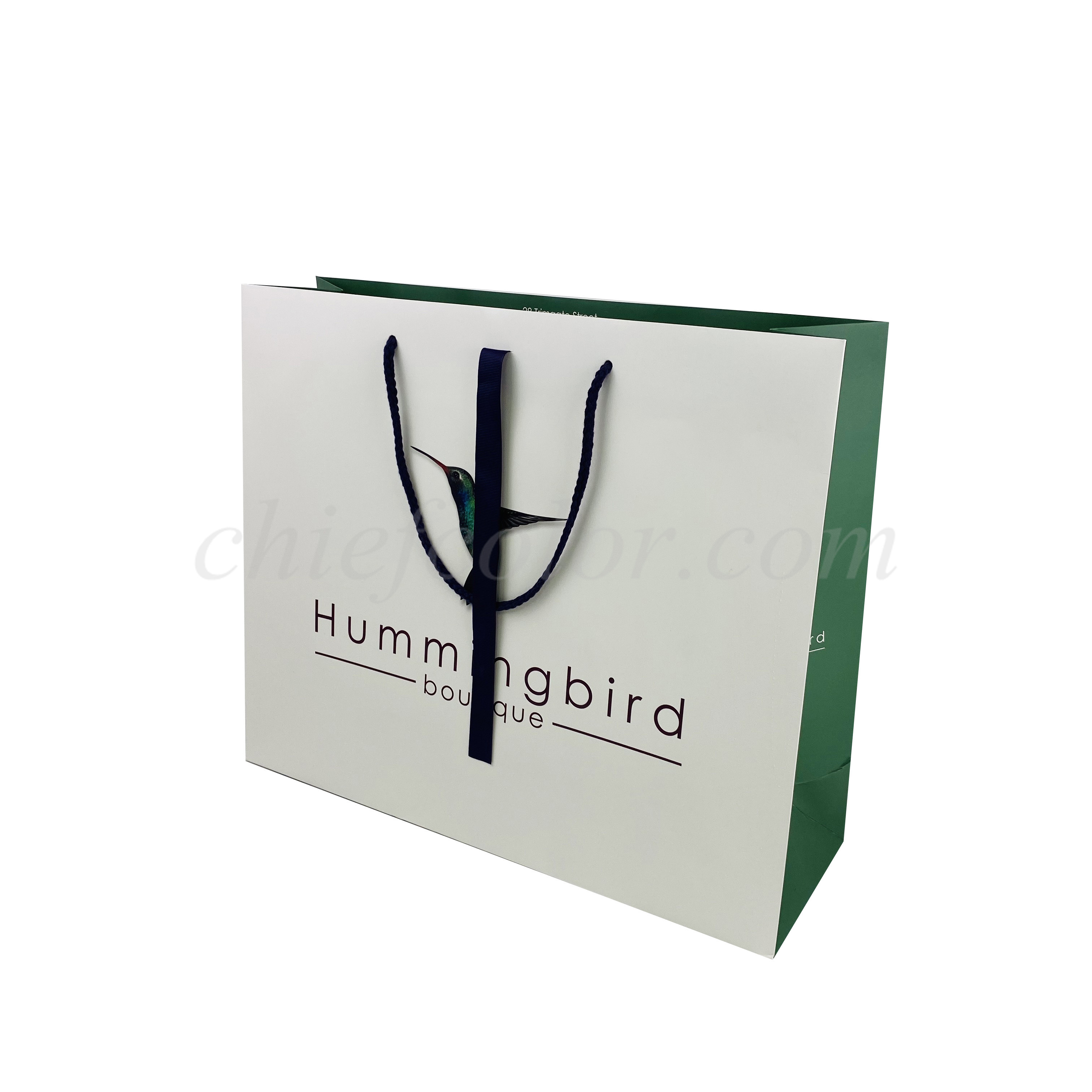 Printed Luxury Paper Shopping Bag For Apparel