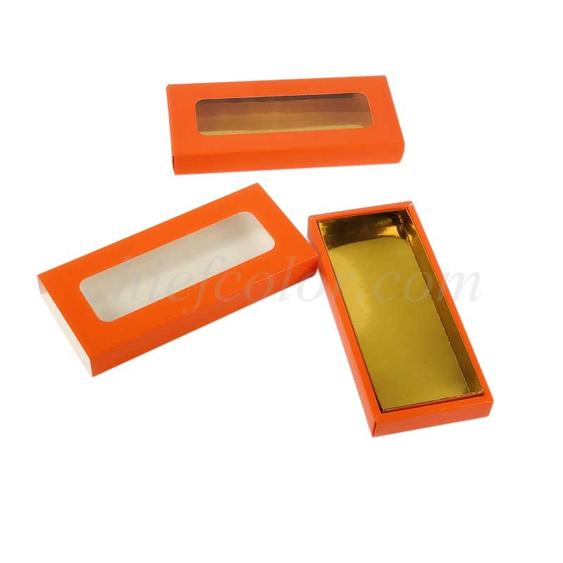 Orange Sliding Drawer Box For Chocolate