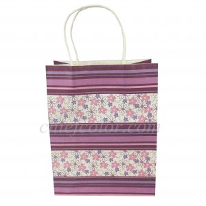 Luxury Kraft Paper Shopping Bags With Twisted Handle