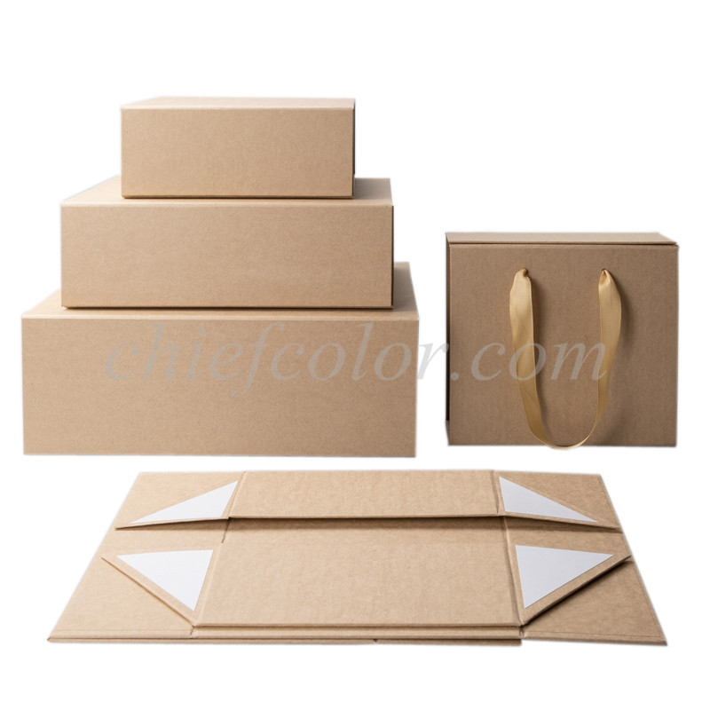Rectangle Krfat Paper Gift Boxes Presentation with Magnetic Closing Lid