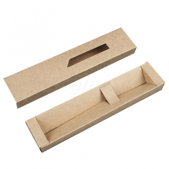 Slide Open Kraft Pen Box