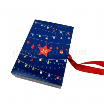 Advent Calendar Box With Ribbon Closure