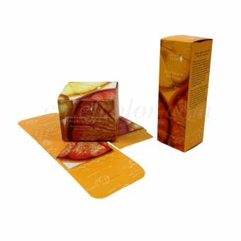 Orange Folding Carton With Tuck Ends For Cosmetics And Healthcare Packaging