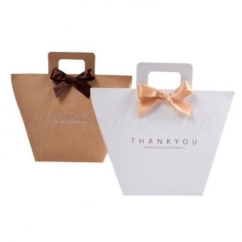 Kraft Gift Bags With Die-Cut Handles