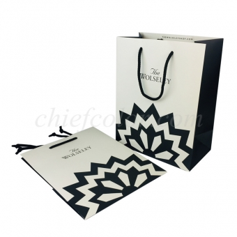 Branded Paper Bags With Cotton Rope Handles