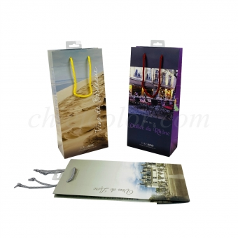 Custom Paper Wine Bags With Handle