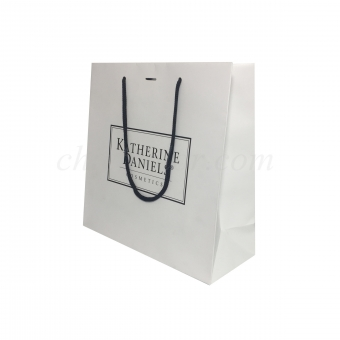 Printed Paper Bags With Handles For Cosmetic