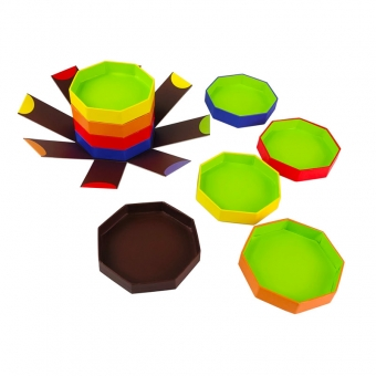 Delicate Octagonal Rigid Box For Chocolate Truffles Packaging