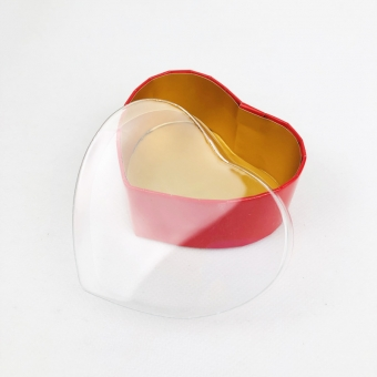 Rigid Heart Shaped Boxes With Clear Lid