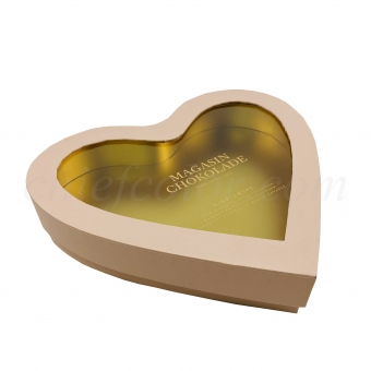 Rigid Heart Shape Gift Box For Chocolate