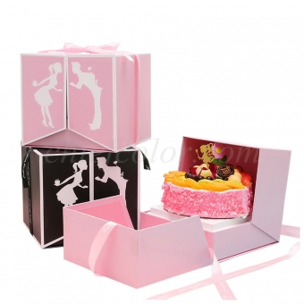 Luxury Printed Rigid Gift Boxes For Birthday Cake