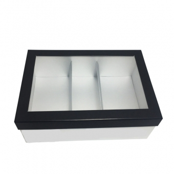 Custom base And Lid Box With Display Window And Separator