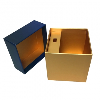 Lift Off Lid Rigid Paper Box Blue Gift Box