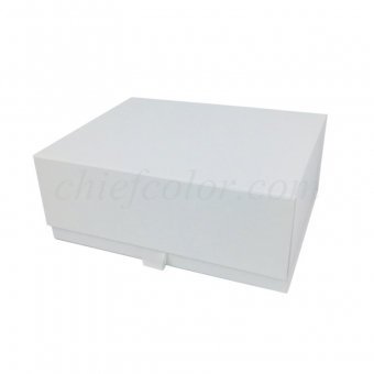 Sustainable White Snap Shut Box With Magnetic Closure